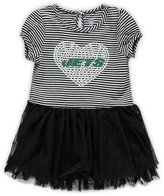 Outerstuff Girls Toddler Black/White New York Jets Celebration Tutu Sequins Dress
