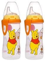 NUK Disney Winnie the Pooh 10 Ounces Active Cup Silicone Spout, 12+ Months, 2-Pack