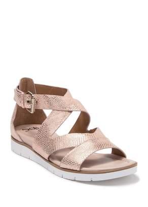 Sofft Mirabelle Snake Embossed Leather Sandal