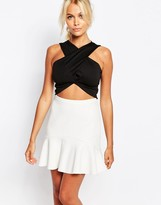 Fashion Union Wrap Front Crop Top