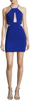 Jay Godfrey Etta Halter-Neck Cutout Cocktail Minidress, Electric Blue