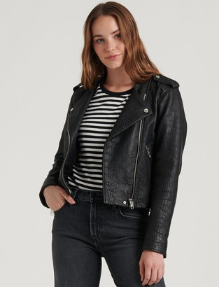 Lucky Brand Pebble Leather Moto