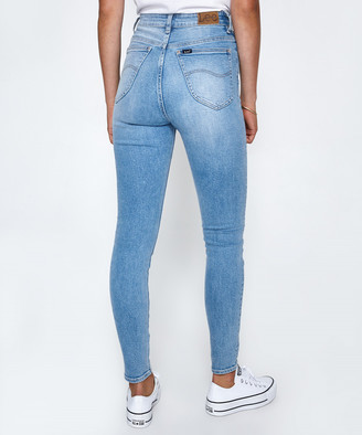 Lee Super High Licks Jeans Powder Blue