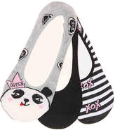 Betsey Johnson Panda No Show Liners - 3 Pack - Women's