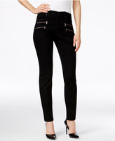 Style&Co. Style & Co. Petite Zipper-Pocket Black Rinse Wash Skinny Jeans, Only at Macy's