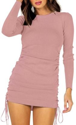 Steve Madden Long Sleeve Mini Dress Pink