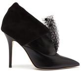 Andrea Mondin - Jasmine Veil-embellished Leather Ankle Boots - Womens - Black