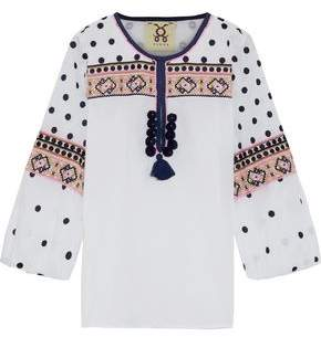Figue Savannah Embroidered Cotton-voile Tunic