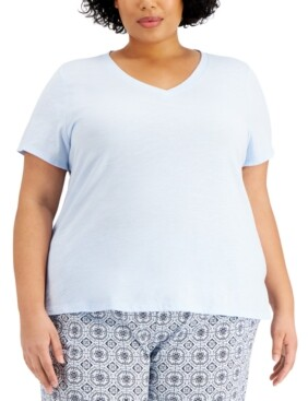 Charter Club Plus Size Sleep T-Shirt, Created for Macy's
