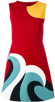 RED Valentino abstract shift dress - women - Cotton/Polyester/Acetate - 44