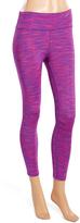 L.A. Gear Power Purple Space-Dye Capri Leggings