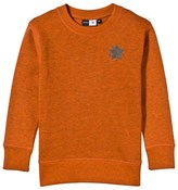 Molo Orange Star Applique Mortimer Sweatshirt