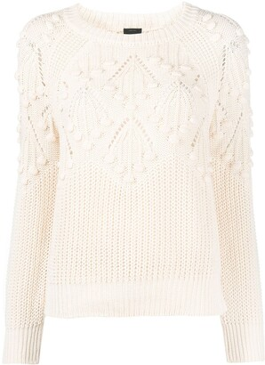 Pinko Pointelle Knitted Jumper