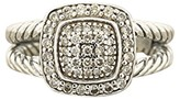 David Yurman 925 Sterling Silver with Albion Diamond Petite Ring Size 6