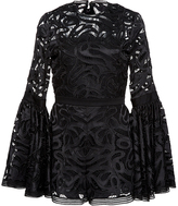 Alexis Rihanna Flared Lace Romper