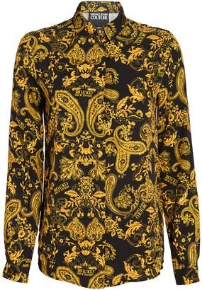 Versace Logo Baroque Button-Down Shirt