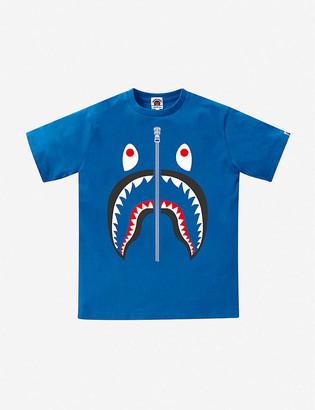 A Bathing Ape Camo Shark cotton T-shirt 9-10 years