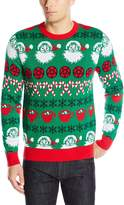 Alex Stevens Men's Hail Santa Fairisle Ugly Christmas Sweater