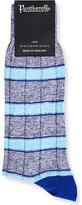 Pantherella Striped Linen-blend Socks