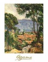 Cezanne 1art1 Posters: Paul Poster Art Print - L'estaque A Villa D'jf (28 x 20 inches)