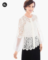Chico's Lace-Mix Blouse