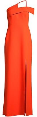 BCBGMAXAZRIA Eva Asymmetric Column Dress