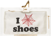 Charlotte Olympia Transparent 'I Love Shoes' Clutch