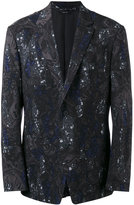 Issey Miyake patterned blazer - men - Cupro/Wool - 3
