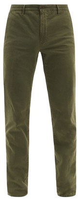 Incotex Cotton-blend Slim-leg Chino Trousers - Green