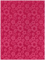 Garland Rug Flowers Area Rug, 5-Feet by 7-Feet, Pink