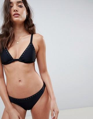 South Beach stud trim triangle bikini set