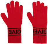 Givenchy logo knit gloves