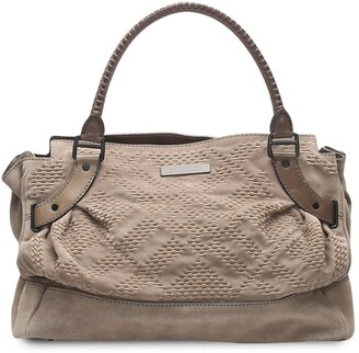 Burberry Pre-Owned Woven Detail Tote Bag