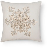 Threshold Sour Cream Snowflake Metallic Throw Pillow