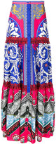 Mary Katrantzou printed tiered skirt