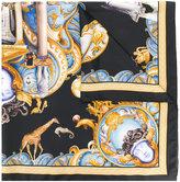 Versace Triptych print scarf