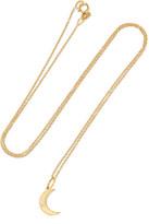 Andrea Fohrman Crescent Moon 18-karat Gold Opal Necklace