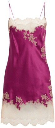 Carine Gilson Silk Lace-Trim Nightdress