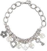 Charm & Chain Rhinestone Charm Chain Bracelet