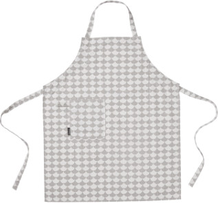 Littlephant - White and Grey Wave Cotton Apron - cotton | White and grey