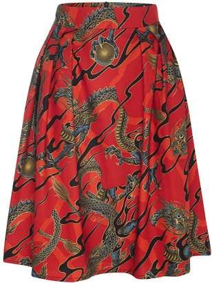 Marianna Déri Hanna Skirt Dragons Red