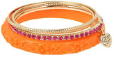 Betsey Johnson Tropical Punch Orange Bangle Set
