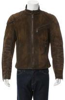 Ralph Lauren Black Label Distressed Suede Jacket