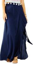Lilly Pulitzer Berdine Silk Wrap Maxi Skirt