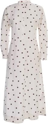 Ganni Printed Cotton Poplin Flared Dress L/s Fantasy