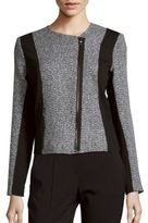 T Tahari Colorblocked Tweed Jacket