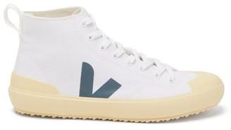 Veja Nova V-logo High-top Canvas Trainers - White