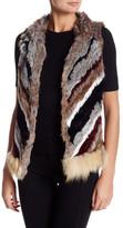 Elizabeth and James Tanya Genuine Rabbit Fur Vest