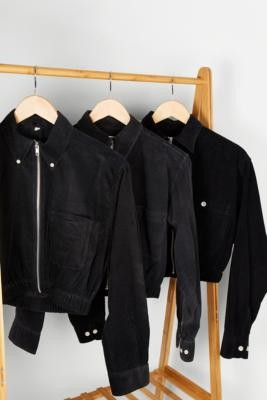 Urban Renewal Vintage Remade From Vintage Black Corduroy Shacket - Black XS/S at Urban Outfitters