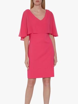 Gina Bacconi Adele Moss Crop Chiffon Dress